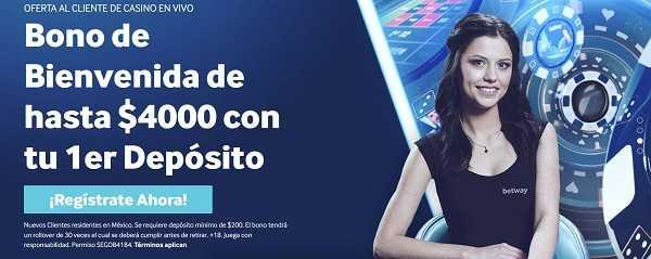 Bono bienvenida casino online Mexico
