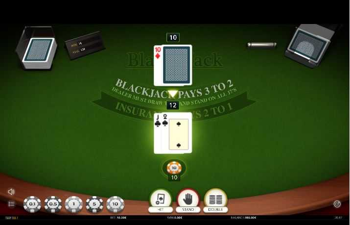 Blackjack one hand de Isoftbet