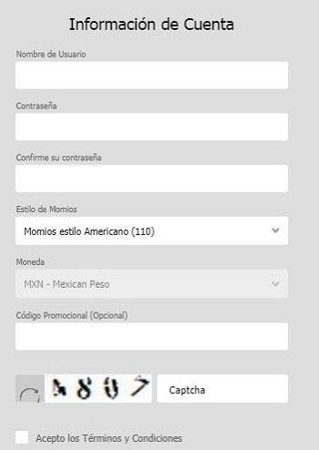 Registro Ganabet Mexico